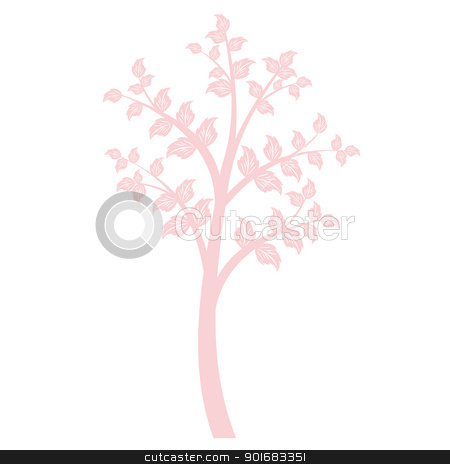 Art Tree stock vector clipart, Beautiful art tree isolated on whirte background by Ingvar Bjork