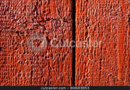 Background of wooden board plank wall painted red  stock photo, Background of wooden board plank wall painted red. Wood surface textures.  by sauletas