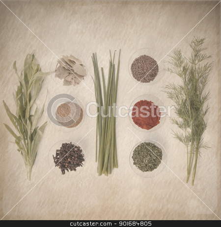 spices retro design stock photo, spices retro design by FranziskaKrause
