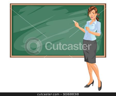 Businesswoman presentation stock vector clipart, Businesswoman presentation by Agung Setya Nugraha