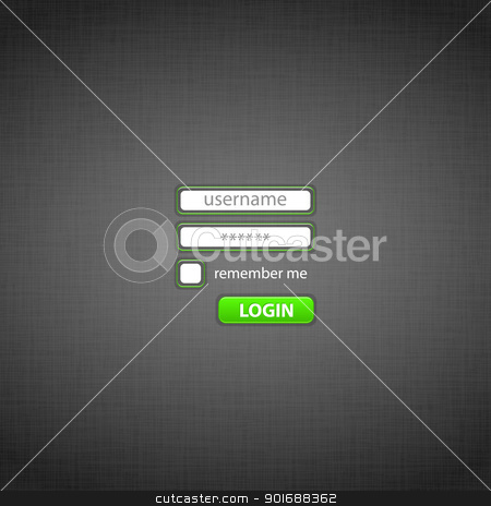 Login form on the website stock photo, Form of authentication on site with click LOGIN. EPS10. Used effects transparency layers of button and opacity mask of background by Imaster