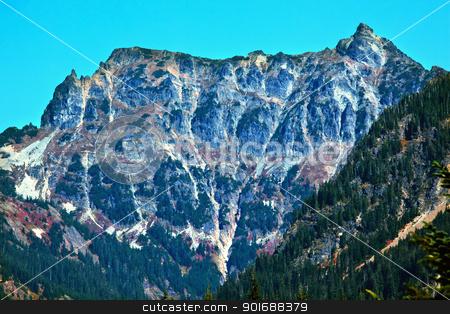 Mount Chikamin Peak Snoqualme Pass Wenatchee National Forest Was stock photo, Mount Chikamin Peak Snoqualme Pass Wenatchee National Forest Wilderness Washington by William Perry