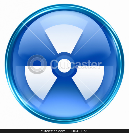 Radioactive icon blue, isolated on white background. stock photo, Radioactive icon blue, isolated on white background. by Andrey Zyk