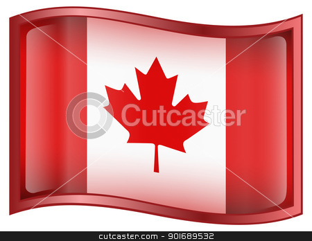 Canada Flag Icon stock photo, Canada Flag Icon, isolated on white background by Andrey Zyk