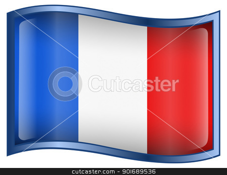 France Flag Icon stock photo, France Flag Icon, isolated on white background. by Andrey Zyk