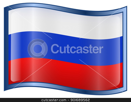Russia Flag Icon stock photo, Russia Flag Icon, isolated on white background by Andrey Zyk
