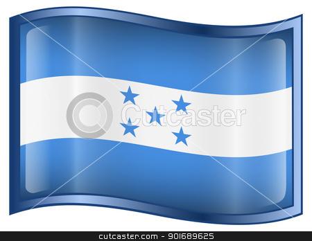 Honduras Flag icon stock photo, Honduras Flag icon, isolated on white background. by Andrey Zyk