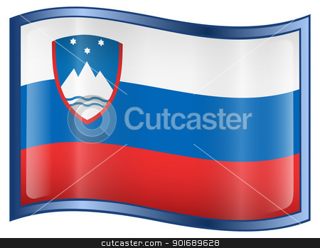 Slovenia Flag icon stock photo, Slovenia Flag icon, isolated on white background. by Andrey Zyk
