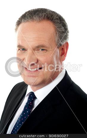 Closeup of a business executive stock photo, Closeup of a business executive isolated over white by Ishay Botbol
