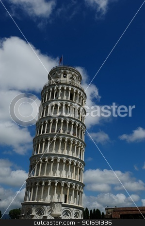 Torre di Pisa stock photo, The famous Leaning tower of Pisa, Italy by Maurizio Martini