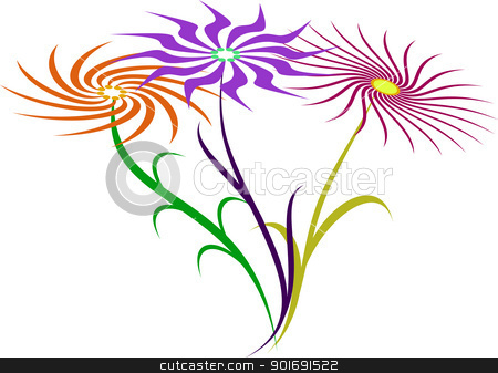 abstract vector flovers stock vector clipart, abstract vector flovers by vtorous