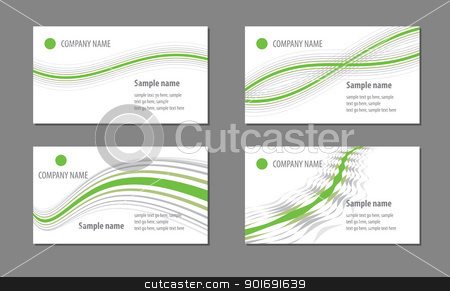 Business cards templates stock vector clipart, Business cards templates by vtorous