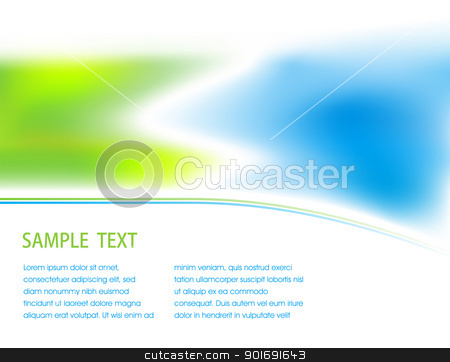 Abstract background stock vector clipart, Abstracrt blured blue and green background by vtorous