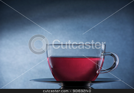 Cup of tea stock photo, A cup with a warm tea by Matthias Krapp