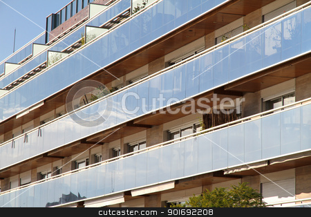 Building in Buenos Aires stock photo, Modern architecture in Buenos Aires, Argentina. by Michael Osterrieder
