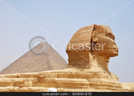 Sphinx in Cairo,Egypt stock photo, Famous site of Sphinx in Cairo,Egypt by John Young
