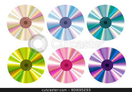A photography of a isolated cd rom  stock photo, A photography of a isolated cd rom  by photomyheart