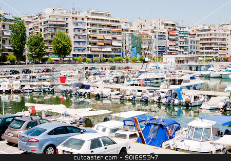 PIRAEUS, GREECE stock photo, Piraeus is the biggest port in Greece and Europe in terms of passenger volume and one of the biggest commercial by Artamonov Yury