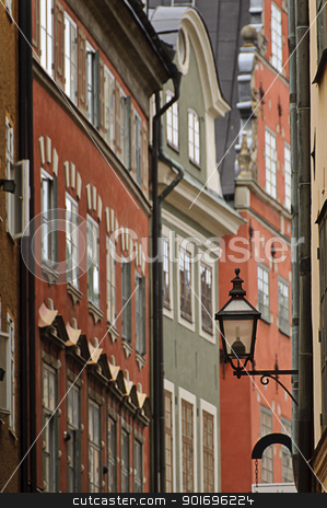 Colorful buildings in Stockholm old town stock photo, Colorful buildings in Stockholm old town (Gamla stan), Sweden by Alessandro Rizzolli