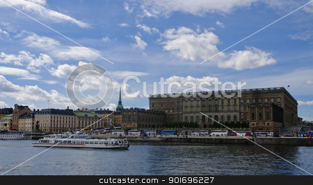 Stockholm Royal Palace (Kungliga slottet) in old town (Gamla stan) stock photo, View of Stockholm Royal Palace (Kungliga slottet) in old town (Gamla stan), Stockholm, Sweden by Alessandro Rizzolli