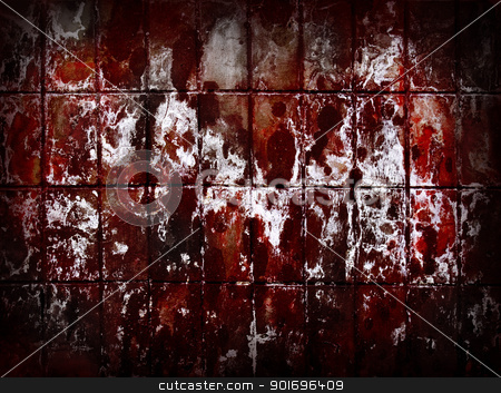 Red grunge wall abstract background. stock photo, Red grunge wall abstract background. by Oleksiy Fedorov