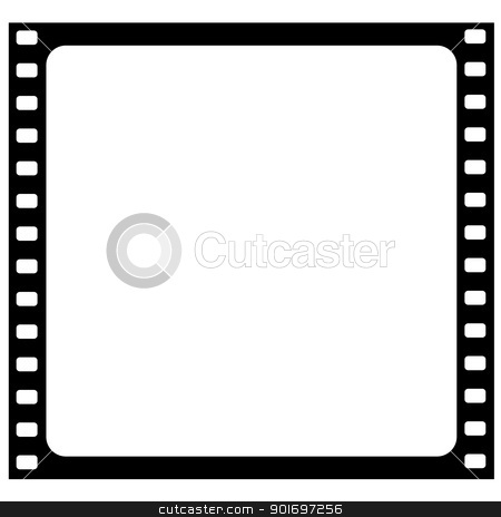 film frame stock vector clipart, Illustration of the film frame by Siloto