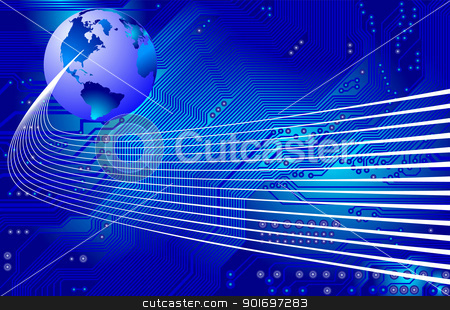 network - communication - vector stock vector clipart, Abstract image - technology abstract - global communication by Siloto