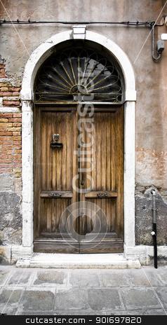 Old door stock photo, Old door to different concepts: restore, solution ,construction by Vanessa GF