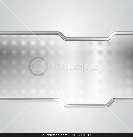 Dotted metal abstract backround stock photo, Mixed metal background. Eps10 vector illustration. Used opacity mask for glossy effect at surface and transparency layers for lights by Imaster