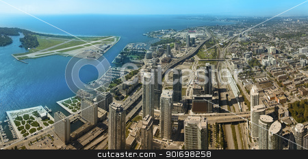 toronto stock photo, toronto aerial panoramic photo, urban scene by Robert Remen