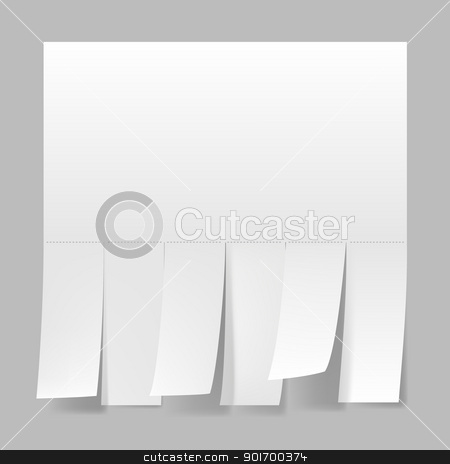 Blank advertisement  stock photo, Blank advertisement with cut slips. Illustration on white background. by dvarg