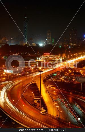 Night scenes of Cairo, Egypt stock photo, Night scenes of downtown Cairo, Egypt by John Young