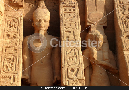 Ramses II at Abu Simbel in Egypt stock photo, Landmark of the famous Ramses II at Abu Simbel in Egypt by John Young