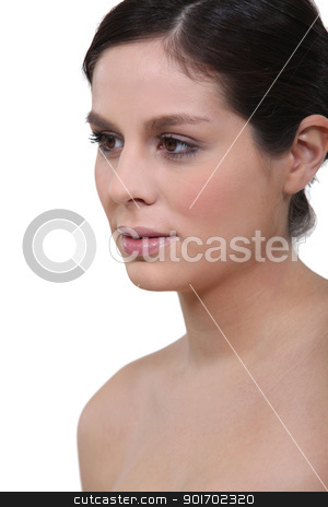 Close-up of naked brunette stock photo, Close-up of naked brunette by photography33