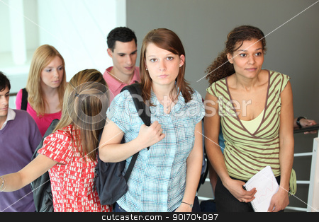Group of college students stock photo, Group of college students by photography33