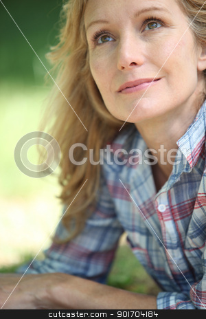 close-up of a woman stock photo, close-up of a woman by photography33