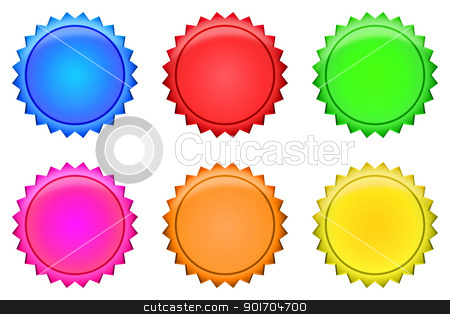 Button collection stock photo, A Series of Button Badges - several colors by Tristan3D