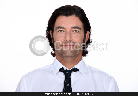 Head and shoulders of a man in a shirt and tie stock photo, Head and shoulders of a man in a shirt and tie by photography33