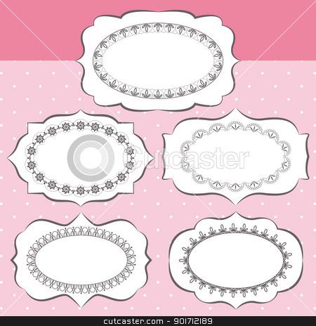 Set of ornate vector frames stock vector clipart, Set of ornate vector frames and ornaments by meikis