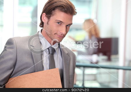 Businessman smiling stock photo, Businessman smiling by photography33