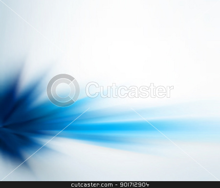 Blue motion stock vector clipart, Abstract editable vector background of a blue motion blur made using a gradient mesh by Robert Adrian Hillman