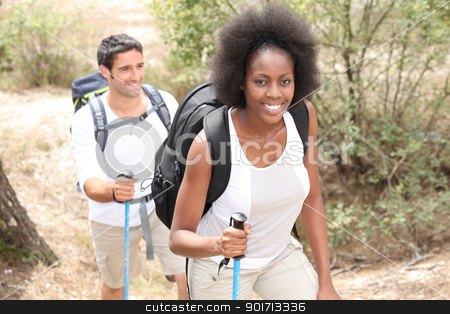 Couple on hiking trip stock photo, Couple on hiking trip by photography33