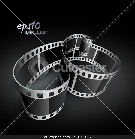 realistic vector reel film stock vector clipart, realistic vector 3d film reel by pinnacleanimates