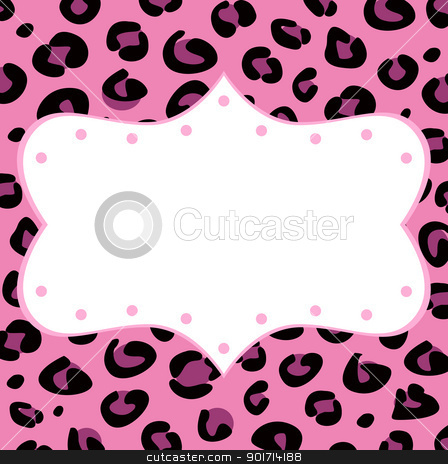 Leopard retro frame for your text stock vector clipart, Blank leopard frame isolated on white background. Vector by BEEANDGLOW