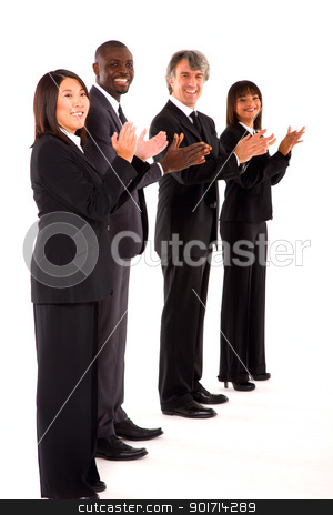 multi-ethnic team stock photo, multi-ethnic team by ambrophoto