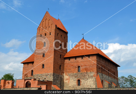 Trakai Castle XIV, XV century architecture  stock photo, Trakai Castle XIV, XV century architecture. Most visited tourist place in Lithuania.  by sauletas