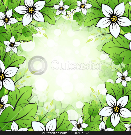 Floral Framing stock vector clipart, Floral Framing. Flowers and Leaves around the picture by Vadym Nechyporenko