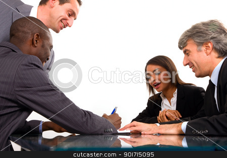 working meeting stock photo, working meeting by ambrophoto