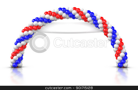 Arch Balloons - Opening Ceremony stock photo, Arch Balloons rendered on White background. by ayzek