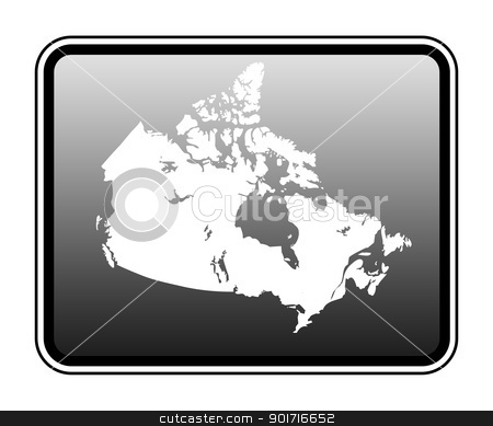 Canada map on computer tablet stock photo, Canada map on modern computer tablet, isolated on white background. by Martin Crowdy